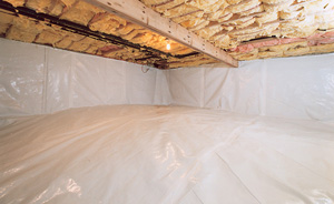 Crawl Space Moisture Barrier After in Ames