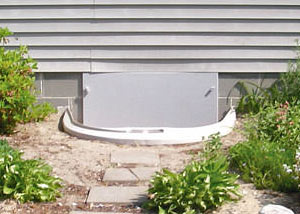 plastic crawl space access well installed in a Waterloo crawl space