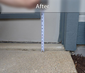 Des Moines concrete walkway repair & leveling