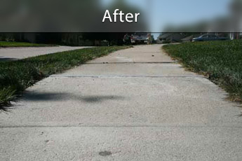 After photo of PolyLevel® concrete sidewalk repair in Des Moines