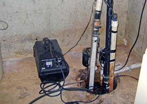Pedestal sump pump system installed in a home in Oskaloosa