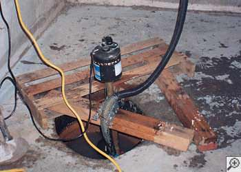 A Oskaloosa sump pump system that failed and lead to a basement flood.