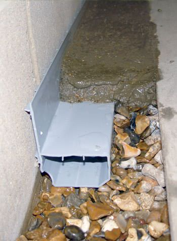 WaterGuard weeping tile system for problems with flooded basements.
